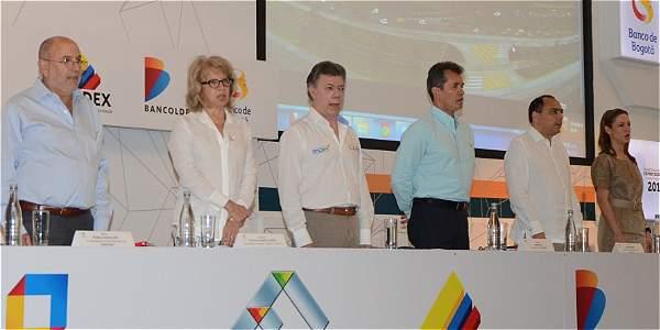 El presidente Santos presidió la instalación de la reunión anual del sector exportador.