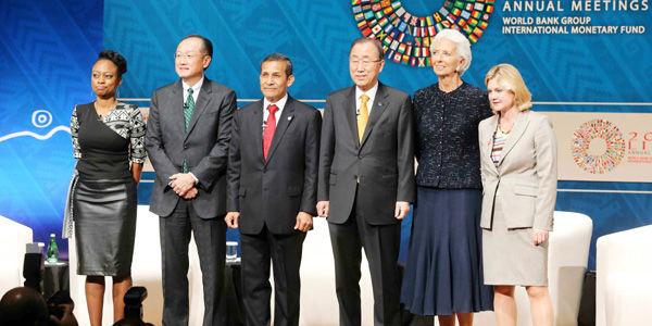 El viernes se reunieron en Lima el presidente del Banco Mundial, el secretario general de la ONU y la directora gerente del Fondo Monetario Internacional.