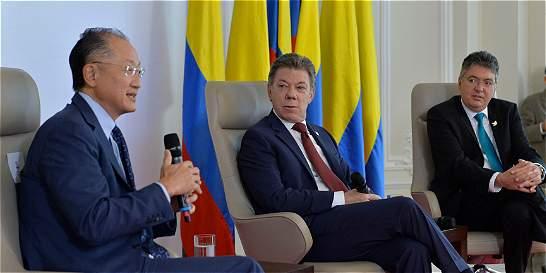 Si Colombia necesita más, estaremos ahí: presidente del Banco Mundial