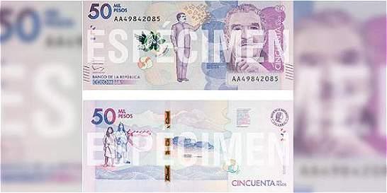 Con imagen de Gabo, comenzó a circular billete de $ 50.000