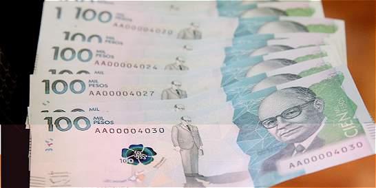 Cuentas claras / El avance del billete de $ 100.000