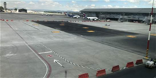 Lista la plataforma central en aeropuerto El Dorado