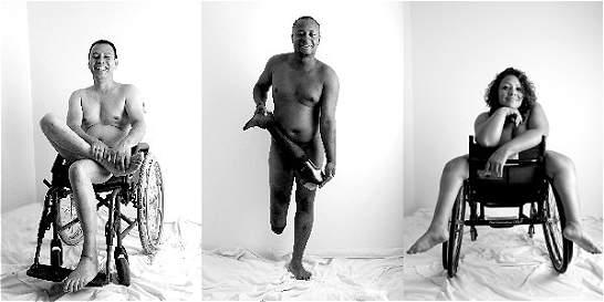 Personas con discapacidad se desnudaron por sus derechos