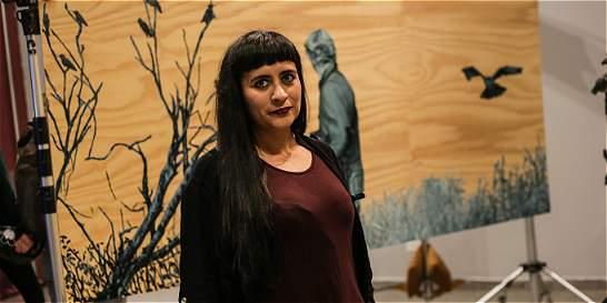 La artista Sandra Rengifo expone en la Cámara de Comercio de Bogotá