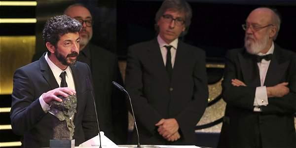 El realizador Alberto Rodríguez recibe el Goya al Mejor Director, por su trabajo en