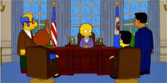 'Los Simpson' predicen que Donald Trump será presidente de EE.UU.