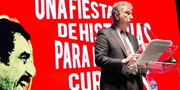 Martin Baron, director de The Washington Post y ex director de The Boston Globe, en la ceremonia de los Premios Gabo.