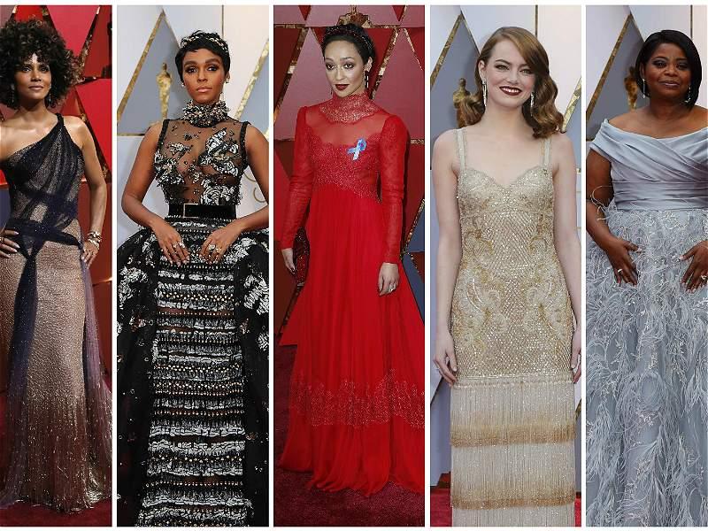El desfile de estrellas por la alfombra roja de los premios Óscar