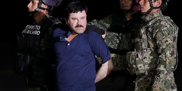 Imagen de la captura de Joaquín 'el Chapo' Guzmán, en enero de 2016.