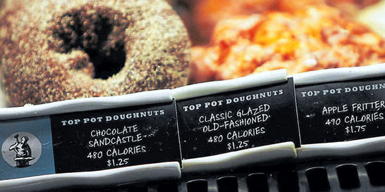 Ley de calorías en los menús no parece funcionar en Nueva York