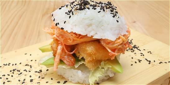 La 'sushi burger' y otros detalles de Bruna