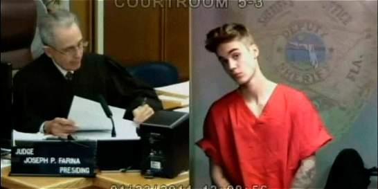 Los delitos que confesará Justin Bieber