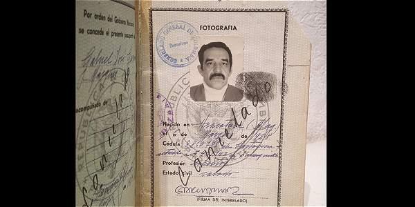 Pasaporte de Gabriel García Márquez.