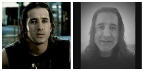 En la foto, Stapp en su mejor momento (izquierda) y en el video donde declara que está en la ruina (derecha).