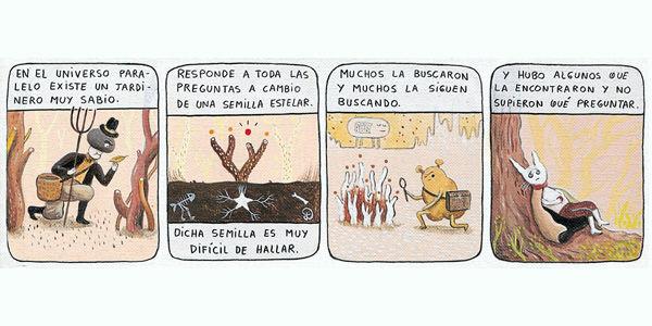 Los argentinos Liniers y Decur (autor de esta historieta) figuran entre la nueva camada de dibujantes e historietistas que se abren camino en el círculo de la tira cómica en Suramérica.
