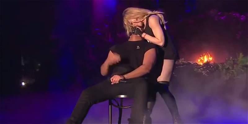 El beso en vivo de Madonna que no le gustó a Drake
