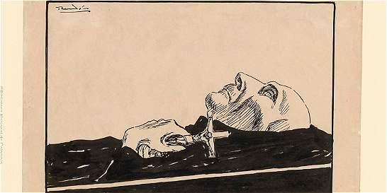 Colección de caricaturas que ilustran la historia del país