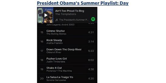 Hay salsa colombiana en el 'playlist' de Obama en Spotify