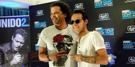 Carlos Vives y Marc Anthony, un dúo muy taquillero