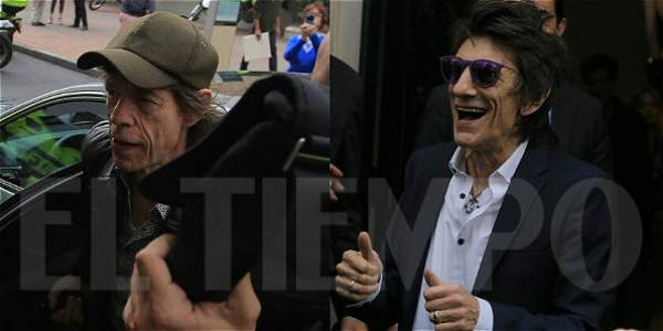 Mick Jagger y Ronnie Wood de The Rolling Stones visitaron el Museo Botero
