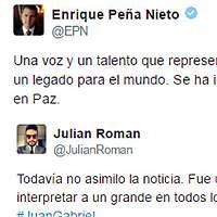 Emotivas reacciones de famosos por muerte de Juan Gabriel