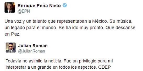 Emotivas reacciones de famosos por muerte del 'Divo de Juárez'