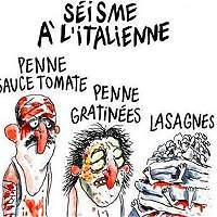 'Charlie Hebdo' defiende su caricatura sobre sismo en Italia