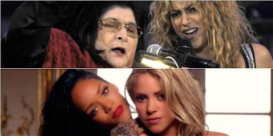A propósito de Maluma, otros artistas que han cantado con Shakira