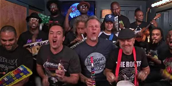 Metallica y Jimmy Fallon cantan