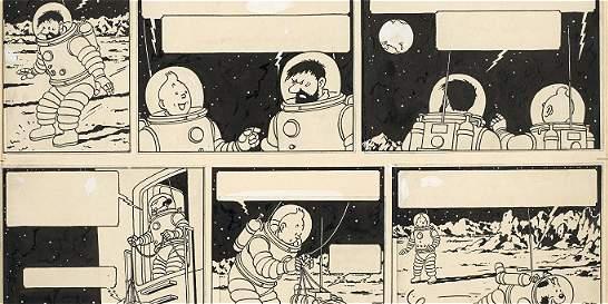 Página del cómic 'Tintin' se subasta en precio récord