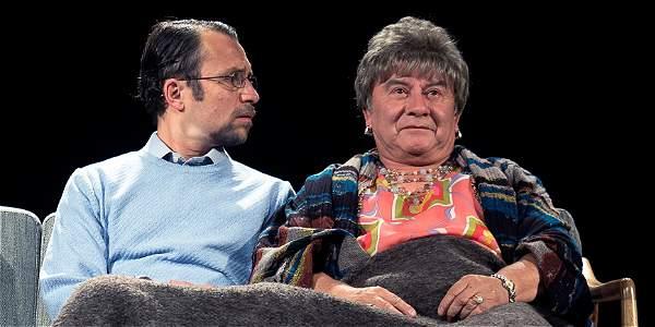 Esta es la primera vez que Toro (izquierda) y Mora trabajan juntos en teatro. Ya lo habían hecho en TV en la serie 'Canarios'.