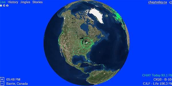 Radio Garden, la aplicación para sintonizar todas las emisora alrededor del mundo.