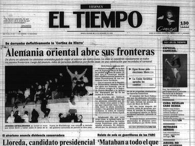 Así cubrió EL TIEMPO en 1989: Alemania Oriental abre sus fronteras
