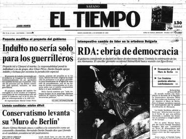 Así cubrió EL TIEMPO en 1989: RDA: ebria de democracia