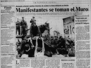 Así cubrió EL TIEMPO en 1989: Manifestantes se toman el muro