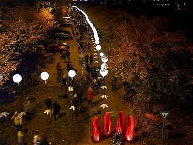 Los 8.000 globos que conmemoran los 25 años de la caída del Muro de Berlín