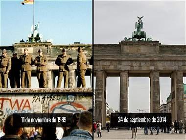 El antes y después del muro de Berlín en fotografías