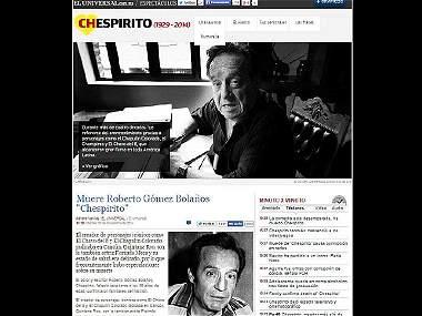 Así cubrieron los diferentes medios la muerte de 'Chespirito'
