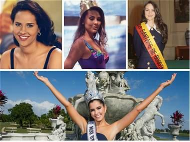 Las diez candidatas de Colombia que más brillaron en Miss Universo