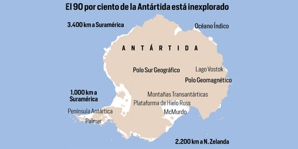 90 por ciento del agua dulce del planeta es lo que alberga el continente blanco, la reserva más importante actualmente.