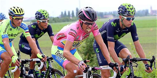 Carlos Betancur, octavo en la etapa 12 del Giro de Italia