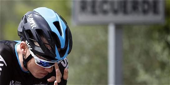 Froome, con fractura navicular, abandonó la Vuelta a España