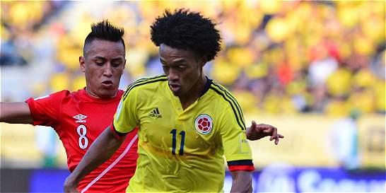 Cuadrado y Aguilar enviaron mensajes de apoyo a la Selección Colombia