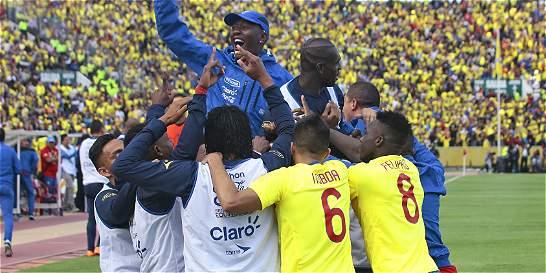Ecuador le ganó 2-1 a Uruguay y sigue imparable en la eliminatoria