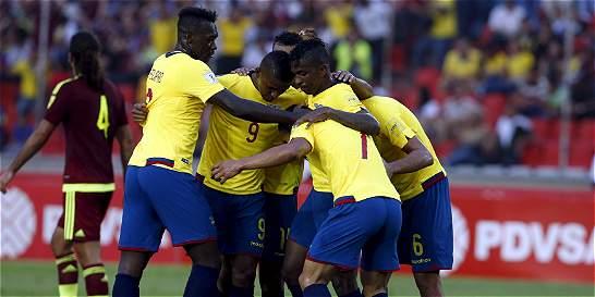 Ecuador sigue imparable en la eliminatoria: venció 1-3 a Venezuela