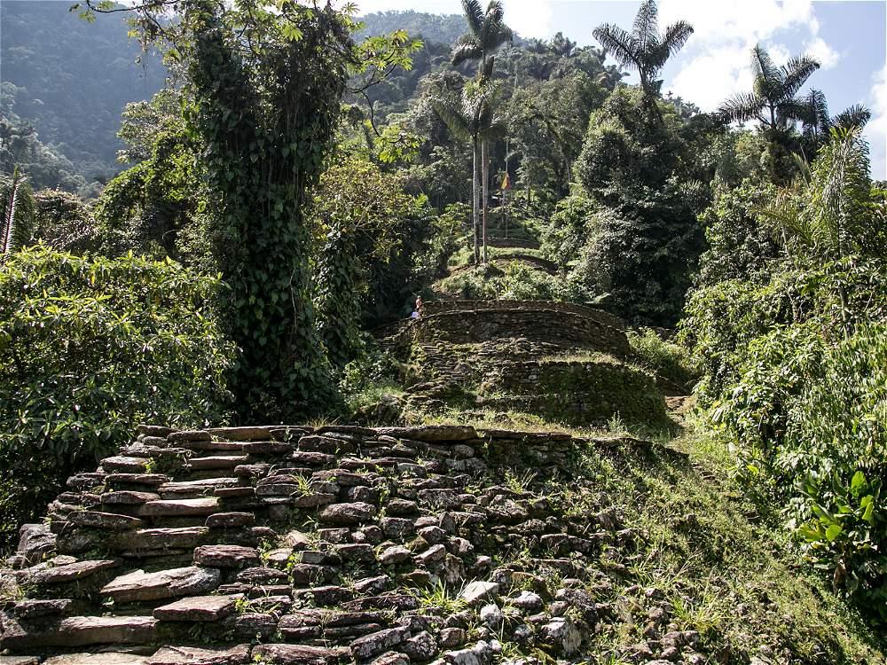 El camino conduce a las 169 terrazas de piedra que conforman La Ciudad Perdida.