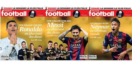 'France Football' reveló posibles portadas para el Balón de Oro 2015