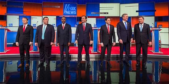 Ausencia de Trump marca el último debate republicano