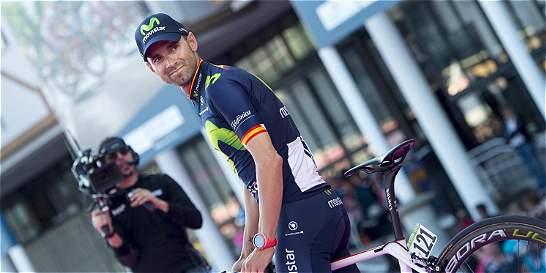 Valverde se motiva en el Giro con el recuerdo de Induraín y Contador