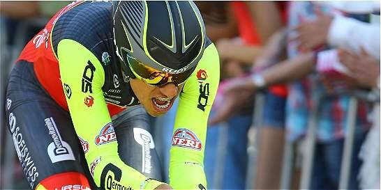 El colombiano Daniel Martínez, el más joven del Giro de Italia